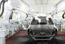 Paint booths require large volumes of clean air. Fog helps to maintain humidity for better paint bonding.